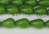 CCN3769 15.5 inches 10*14mm teardrop candy jade beads wholesale