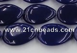 CCN3888 15.5 inches 15*20mm flat teardrop candy jade beads