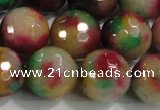 CCN4015 15 inches 16mm faceted round candy jade beads wholesale