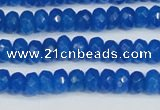CCN4135 15.5 inches 4*6mm faceted rondelle candy jade beads