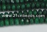 CCN4170 15.5 inches 5*8mm faceted rondelle candy jade beads