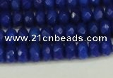 CCN4171 15.5 inches 5*8mm faceted rondelle candy jade beads