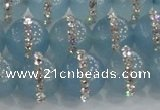 CCN4618 15.5 inches 12mm round candy jade with rhinestone beads