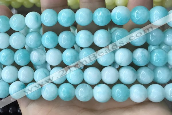 CCN5005 15.5 inches 8mm & 10mm round candy jade beads wholesale