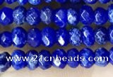 CCN5115 15 inches 3*4mm faceted rondelle candy jade beads