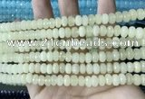 CCN5135 15 inches 5*8mm faceted rondelle candy jade beads