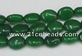 CCN522 15.5 inches 8*10mm oval candy jade beads wholesale