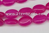 CCN527 15.5 inches 10*14mm oval candy jade beads wholesale