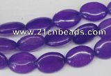 CCN530 15.5 inches 10*14mm oval candy jade beads wholesale
