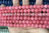 CCN5327 15 inches 8mm round candy jade beads Wholesale