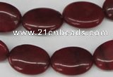 CCN537 15.5 inches 15*20mm oval candy jade beads wholesale