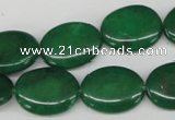 CCN539 15.5 inches 15*20mm oval candy jade beads wholesale