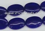 CCN540 15.5 inches 15*20mm oval candy jade beads wholesale