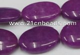 CCN549 15.5 inches 18*25mm oval candy jade beads wholesale