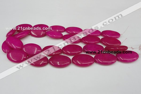 CCN551 15.5 inches 20*30mm oval candy jade beads wholesale