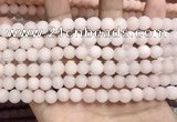CCN5581 15 inches 8mm round matte candy jade beads Wholesale