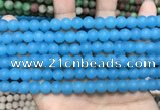 CCN5605 15 inches 8mm round matte candy jade beads Wholesale