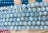 CCN5654 15 inches 8mm faceted round candy jade beads
