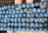 CCN5659 15 inches 8mm faceted round candy jade beads