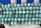 CCN5694 15 inches 8mm faceted round candy jade beads