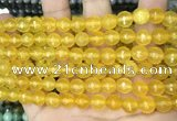 CCN5708 15 inches 8mm faceted round candy jade beads