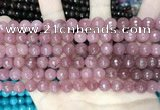 CCN5716 15 inches 8mm faceted round candy jade beads