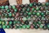 CCN5743 15 inches 8mm faceted round candy jade beads