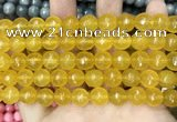 CCN5794 15 inches 10mm faceted round candy jade beads