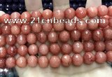 CCN5806 15 inches 10mm faceted round candy jade beads