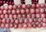 CCN5807 15 inches 10mm faceted round candy jade beads