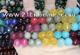 CCN5819 15 inches 10mm faceted round candy jade beads