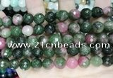 CCN5832 15 inches 10mm faceted round candy jade beads