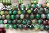 CCN5833 15 inches 10mm faceted round candy jade beads