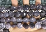 CCN5872 15 inches 15mm flat round candy jade beads Wholesale
