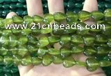 CCN5926 15 inches 12*12mm heart candy jade beads Wholesale