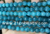 CCN6301 15.5 inches 8mm faceted round candy jade beads Wholesale
