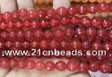 CCN6307 15.5 inches 8mm faceted round candy jade beads Wholesale