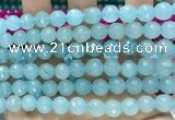 CCN6324 15.5 inches 8mm faceted round candy jade beads Wholesale