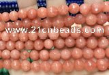 CCN6332 15.5 inches 8mm faceted round candy jade beads Wholesale