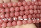 CCN6345 6mm, 8mm, 10mm, 12mm & 14mm faceted round candy jade beads