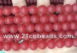 CCN6361 15.5 inches 6mm, 8mm, 10mm & 12mm round matte candy jade beads