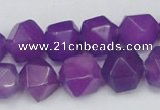 CCN664 15.5 inches 15*15mm faceted nuggets candy jade beads