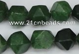 CCN667 15.5 inches 15*15mm faceted nuggets candy jade beads