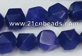 CCN669 15.5 inches 15*15mm faceted nuggets candy jade beads