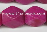 CCN672 15.5 inches 18*25mm faceted nuggets candy jade beads