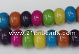 CCN722 15.5 inches 8*12mm rondelle candy jade beads wholesale
