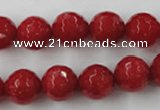 CCN858 15.5 inches 16mm faceted round candy jade beads