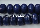 CCN926 15.5 inches 10*14mm faceted rondelle candy jade beads