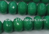 CCN937 15.5 inches 12*16mm faceted rondelle candy jade beads