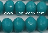 CCN952 15.5 inches 14*18mm faceted rondelle candy jade beads